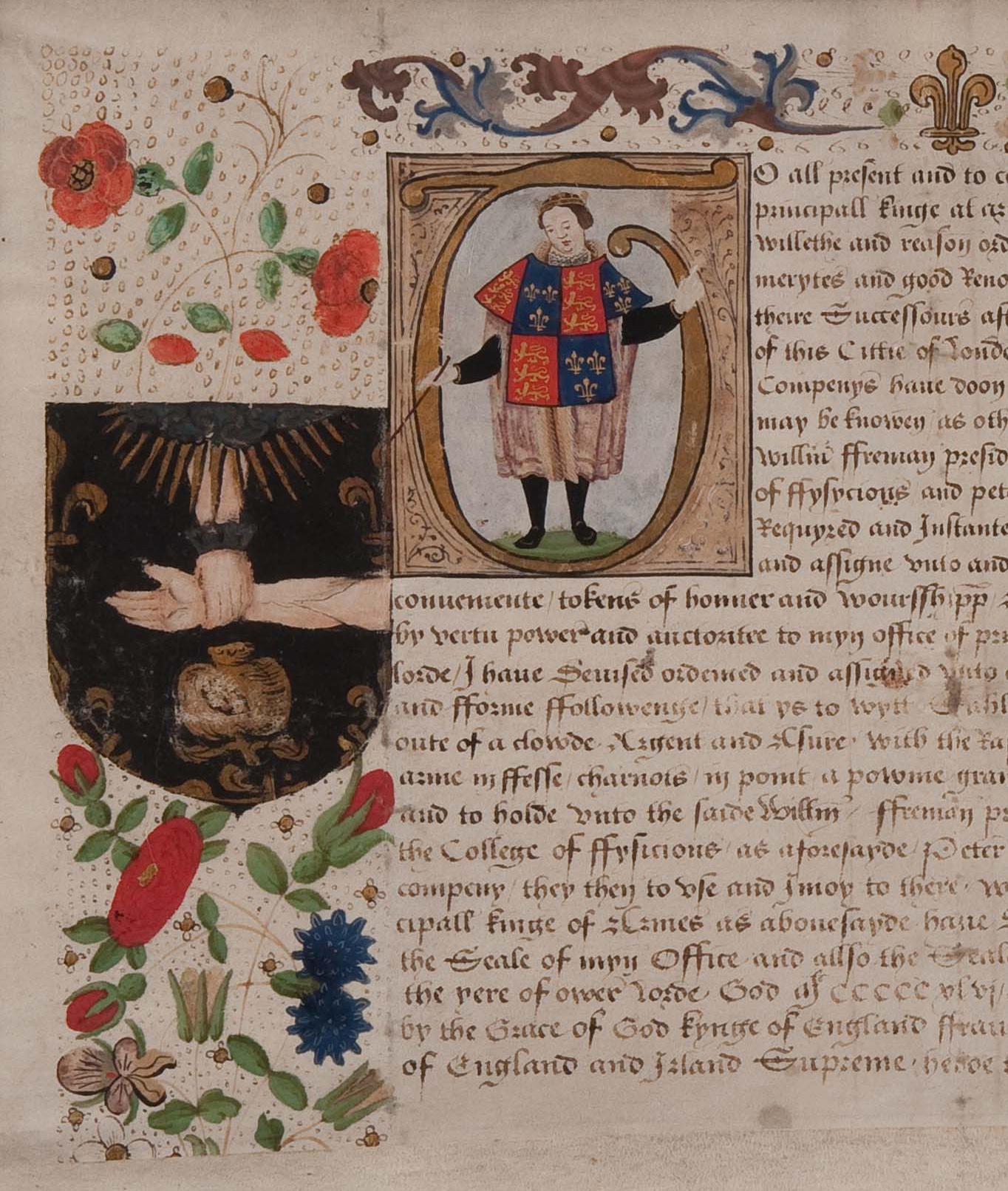Grant of arms for the Royal College of Physicians 1556