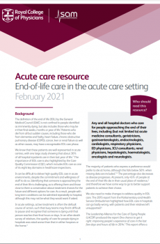 Acute care resource: End-of-life care in the acute care setting report cover