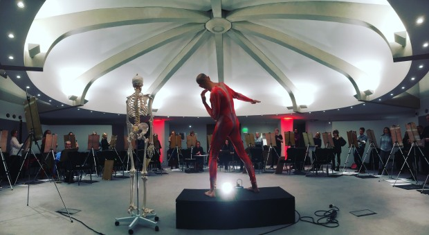 A life drawing class held at the RCP museum in London