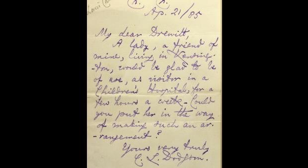 Letter signed by Charles Dodgson