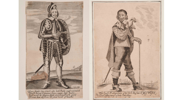 Two engraved portraits of men.