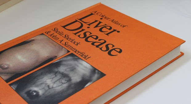 Colour photograph of the cover of a medical textbook