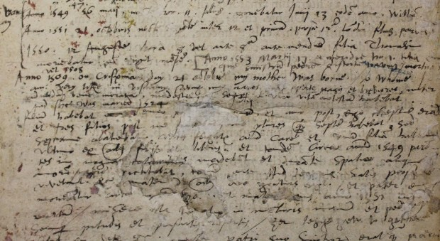 Manuscript notes by John Dee