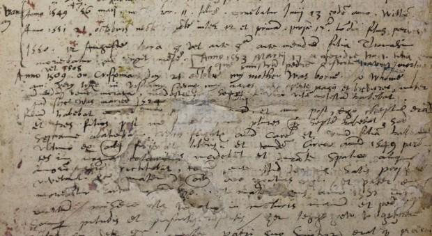 Manuscript notes by John Dee