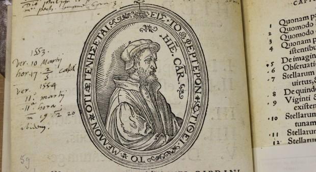 Woodcut portrait of Girolamo Cardano