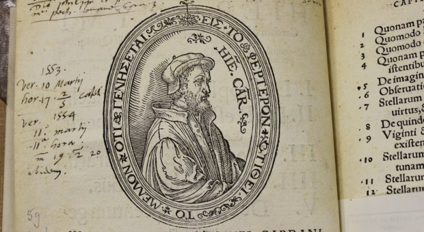 Woodcut portrait of Girolamo Cardano