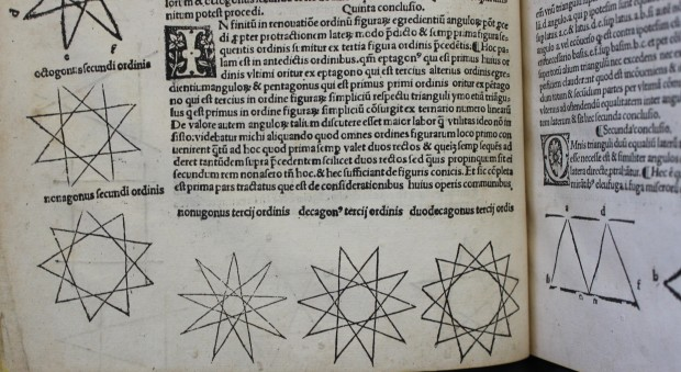 Woodcut mathematical illustrations