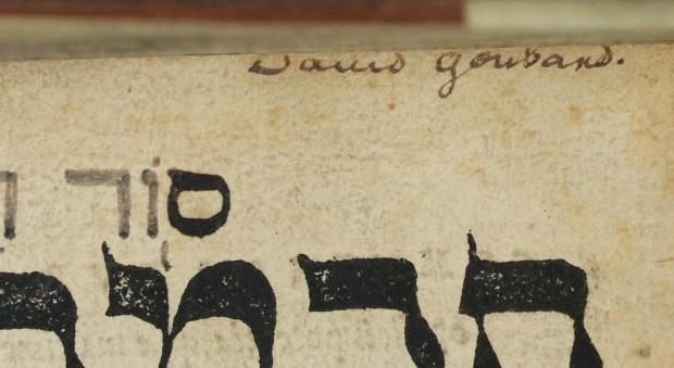 Inscription by David Goubard