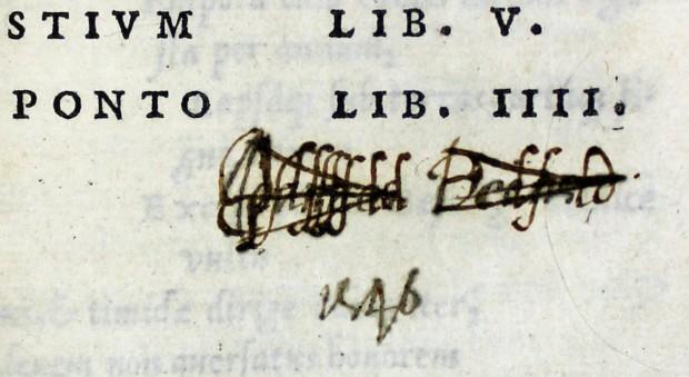 Fastorum … Tristium … De ponto. Ovid, published Paris, 1529.
