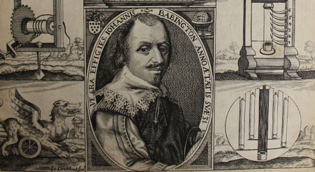 Engraved portrait of John Babington