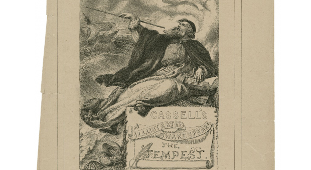 Prospero in Cassell's illustrated Shakespeare: The tempest. Engraving by William James Linton, published London, 19th century. Folger Shakespeare Library.