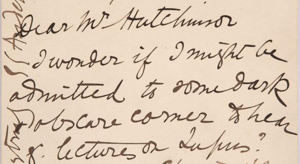 Handwritten letter by Elizabeth Garrett Anderson