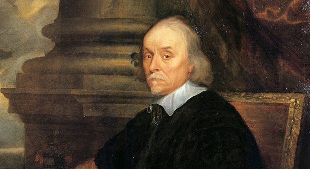Oil painting of a man in 17th century dress
