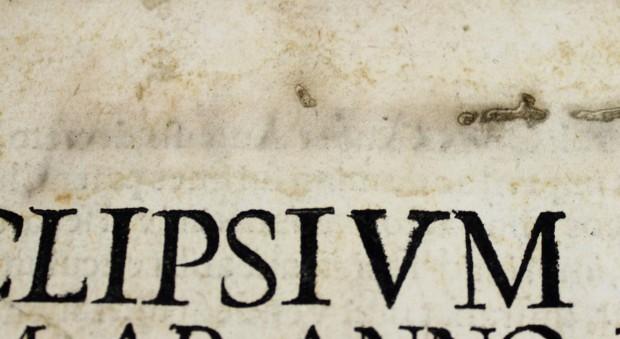Eclipsium omnium ab anno Domini 1554 usque in annum Domini 1606 accurata descriptio et picture. Cyprian von Leowitz, published Augsburg, 1556.
