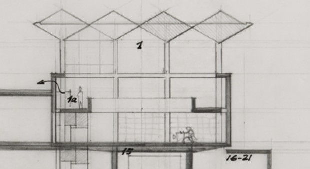 Denys Lasdun design for the RCP building at St. Andrews Place