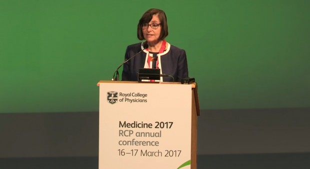 Professor Jane Dacre addressing RCP members and fellows at Medicine 2017: RCP annual conference