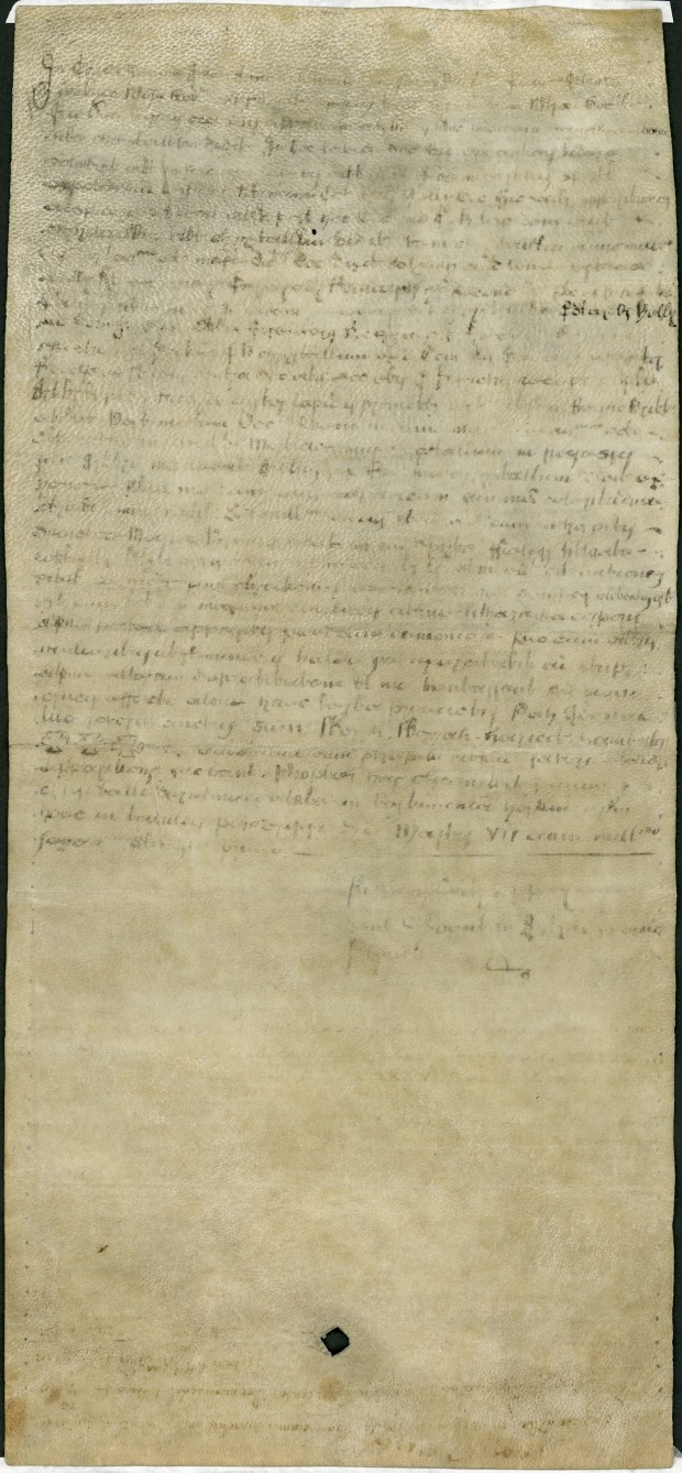 Statement by Nicholas Culpeper about John Dee's crystal. Nicholas Culpeper, 7 March 1651. Science Museum, London, Wellcome Images