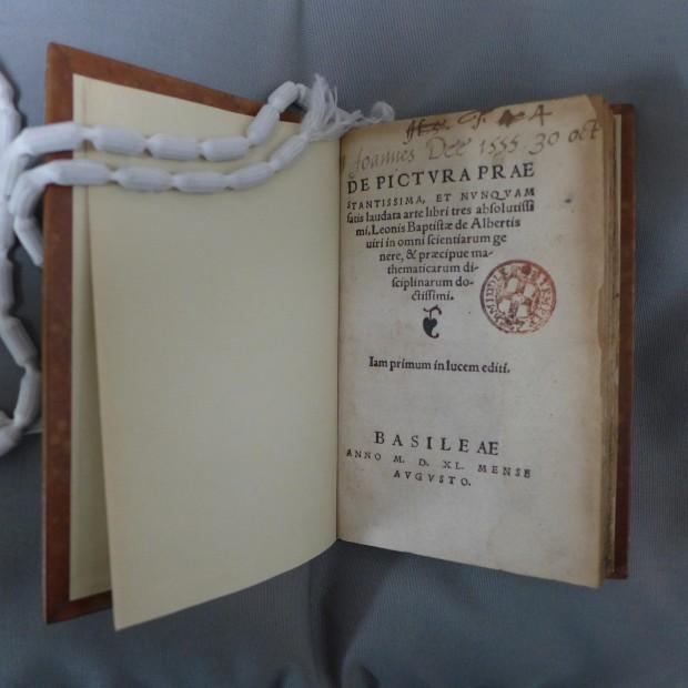 De pictura prae stantissima. Leon Battista Alberti, published Basel, 1540