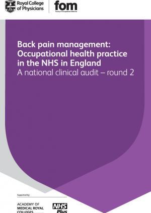 Back pain management audit 2012 - round 2