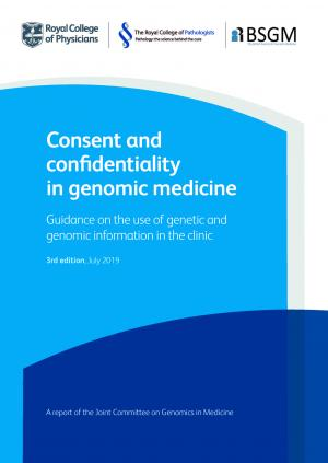 Consent and confidentiality in genomic medicine report cover