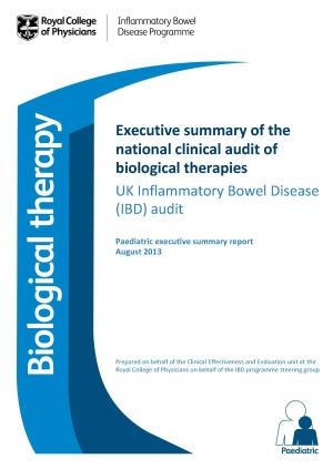 Executive summary of national clinical audit of biological therapies - Paediatric report August 2013