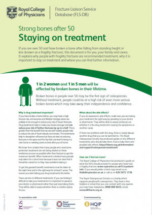 Image of the staying on treatment one page guidance