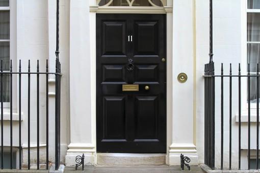 The door of number 11 Downing street