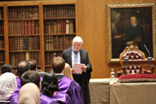 A 'New members ceremony' in the Dorchester Library