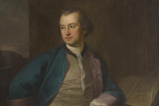 Oil portrait of a man in 18th century dress