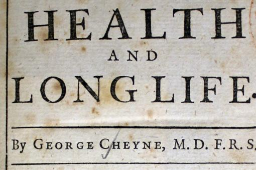 health and long life  rcp london physician george cheynes an essay on health and long life