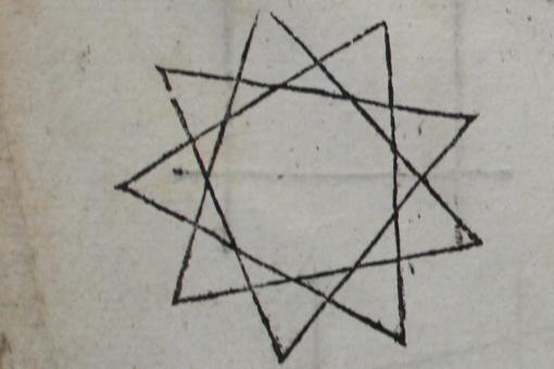 Woodcut mathematical illustrations.