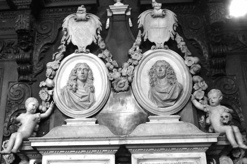 Finch and Baines' memorial in Christ's College, Cambridge