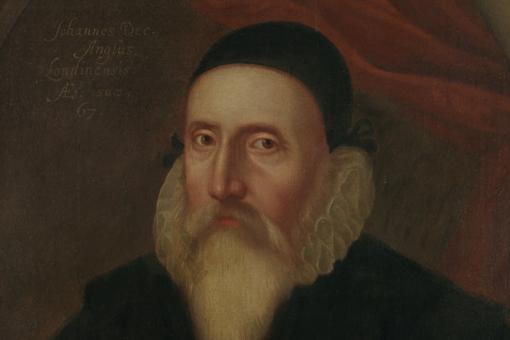 John Dee (1527-1609). Oil on canvas by unknown artist, c.1594. © Ashmolean Museum, University of Oxford.