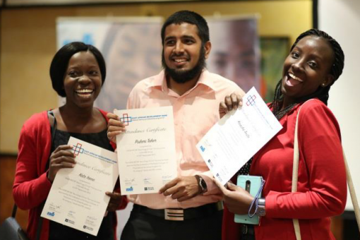 Course participants with completion certificates