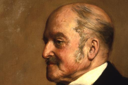 William Munk (1816–1898). Oil on canvas, by John Collier, 1898