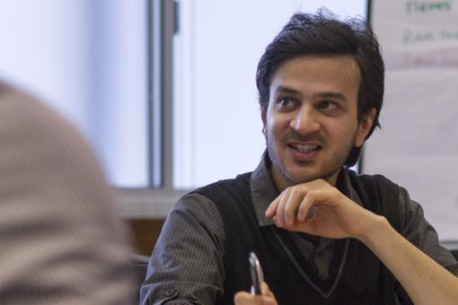 A member of the RCP's Student and Foundation Doctor Network speaks during a meeting