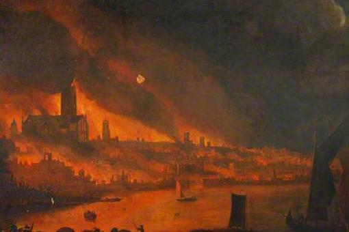 Great Fire of London, oil on canvas, by permission of the Society of Antiquaries