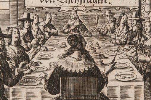 Illustration from Georg Philipp Harsdörffer's book on table manners