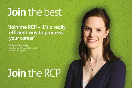 Quote from a member of the RCP: 'Join the RCP – it's a really efficient way to progress your career'