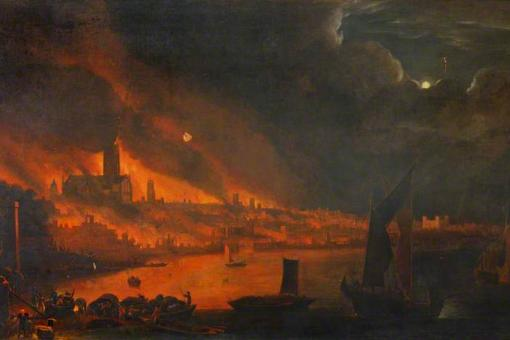 Great Fire of London, by permission of the Society of Antiquaries of London