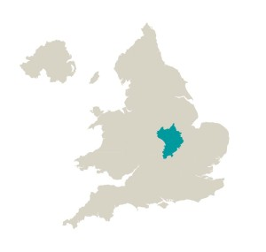 Regions east midlands south
