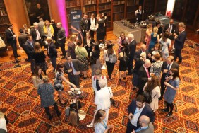 Attendees at the EPCA 2019 award ceremony enjoy a drinks reception