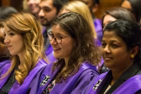 Diplomates seated during the ceremony to receive their MRCP(UK) diplomas