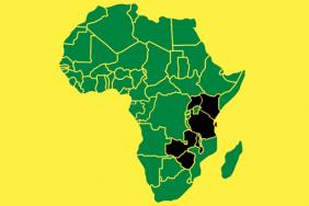 African continent with ESCACoP countries highlighted