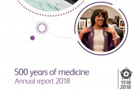 RCP Annual report 2018: 500 years of medicine - cover page