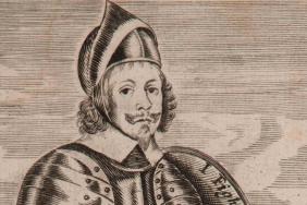 Engraved portrait of a man.