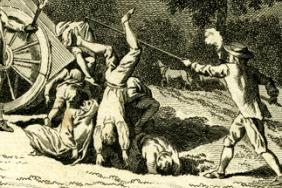 View of the manner of burying the dead bodies at Holy-well mount during the dreadful plague in 1665. Engraving by Grignion after Wale, 1780.