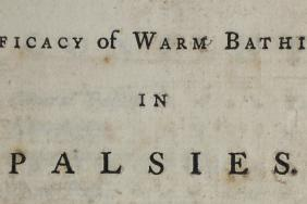 Title page of 'An inquiry into the efficacy of bath waters in palsies'