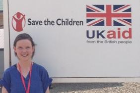 RCP member and Save the Children volunteer Dr Clare Warrell at the Ebola treatment centre