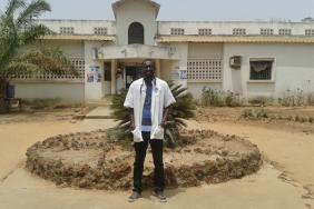 Dr Clement Diarga Basse outside hospital in Senegal's Ziguinchor region